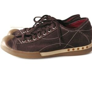 Gordon Rush Suede Brown Lace Up Sneakers Size 8